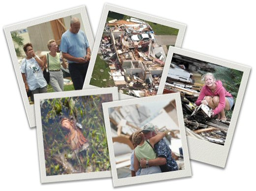 Montage of Hurricane Victims and Damage by Suzanne Fromtling/Brawley